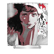 Film Homage Collage Eugene Robert Richee Photo Clara Bow Circa 1928-2013 Shower Curtain