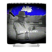 Film Homage Crime Does Not Pay Circa 1964 Dick Mayers Collage Screen Capture Circa 1964-2011 Shower Curtain
