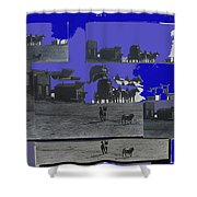 Film Homage Dirty Dingus Magee Collage Number 1 1970-2012 Mescal Arizona Shower Curtain