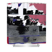 Film Homage Dirty Dingus Magee Collage Number 2 1970-2012 Mescal Arizona Shower Curtain