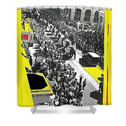 Film Homage Fox Tucson Theater Marquee Cole Bros. Circus Elephant Parade 1936-2008 Shower Curtain