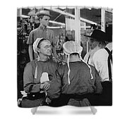 Film Homage Harrison Ford Witness 1985 Amish El Con Shopping Center Tucson Arizona 1968-2008 Shower Curtain