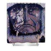 Film Homage  Iron Eyes Cody The Big Trail 1930 Crying Indian Black Canyon Arizona 2004-2008  Shower Curtain