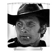 Film Homage Jack Palance Monte Walsh Set Old Tucson Arizona 1969 Shower Curtain