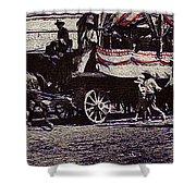 Film Homage James Cagney Yankee Doodle Dandy 1942  East Congress  Tucson Arizona C. 1890-2008       Shower Curtain