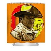 Film Homage John Wayne Andy Warhol Inspired Rio Lobo Variation 1 Old Tucson Arizona 1970-2009 Shower Curtain