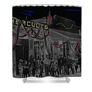 Film Homage John Wayne 'neath Arizona Skies 1934 California Powder Works Congress Tucson Az Ca.1900 Shower Curtain