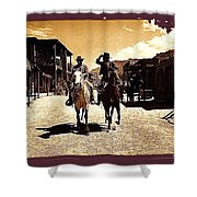Film Homage Mark Slade Cameron Mitchell Riding Horses The High Chaparral Old Tucson Arizona Shower Curtain