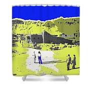 Film Homage Old Tucson Arizona In The Mid 1940's Shower Curtain