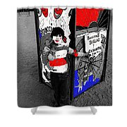 Film Homage Santa Sangre 1989 Traveling Carnival Us Mexico Border Naco Sonora Mexico 1980-2010 Shower Curtain