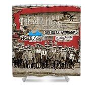 Film Homage The Air Mail  Leader Theater Washington D.c. 1925-2010 Shower Curtain