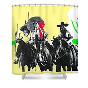 Film Homage The Gay Desperado 1936 Chris-pin Martin  Nino Martini Saguaro  Nat'l Monument Tucson Shower Curtain