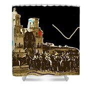 Film Homage The Gay Desperado Set San Xavier Mission Tucson Arizona 1936-2008 Shower Curtain