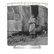 Film Homage The Grapes Of Wrath 1 1940 Family In Shack Perhaps Eloy Arizona 1940-2008 Shower Curtain