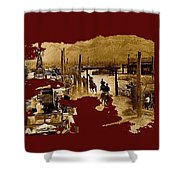 Film Homage The High Chaparral Set Collage Old Tucson Arizona C.1967-2013 Shower Curtain