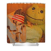 Film Homage The Muppet Movie 1979 Number 1 Froggie Colored Pencil American Flag Casa Grande Az 2004 Shower Curtain
