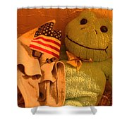 Film Homage The Muppet Movie 1979  Number 2 Froggie Smudge Stick Casa Grande Az 2004-2009 Shower Curtain