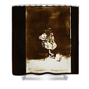 Film Homage Tod Browning Freaks 1932 Child With Doll The Devil Doll 1936 1890's-2008 Shower Curtain