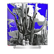 Film Homage Victor Fleming Jean Harlow Bombshell 1933 Saguaro Nat'l Monument Tucson 2008 Shower Curtain