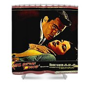 Film Noir Gerd Oswald Robert Wagner A Kiss Before Dying 1956 Poster Color Toning Added 2008 Shower Curtain