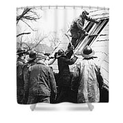 Film Noir Harry Morgan Jack Webb Allan Ladd Appointment With Danger 1951 Gas Explosion Aberdeen Sd  Shower Curtain