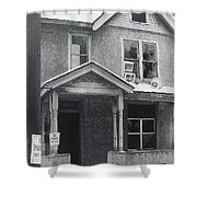 Film Noir Its A Wonderful Life 1947 Never Been Born Section Condemned House Minneapolis 1966 Shower Curtain