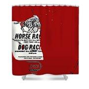 Film Noir Jim Thompson The Grifters 1990 1 Horse Dog Tracks Sign Juarez 1977 Shower Curtain