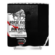 Film Noir Jim Thompson The Grifters 1990 2 Horse Dog Tracks Sign Juarez 1977 Shower Curtain