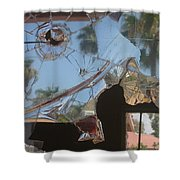 Film Noir Jim Thompson The Grifters 1990 Palm Trees Shattered Glass Casa Grande Arizona 2004 Shower Curtain