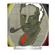 Film Noir Mystery Writer Raymond Chandler Vignetted Texture Color Added 2013 Shower Curtain