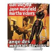 Film Noir Poster  The Burglar Jane Mansfield Shower Curtain