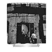 Film Noir Richard Widmark Panic In The Streets 1950 New Orleans Publicity Photo Black And White Shower Curtain