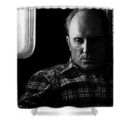 Film Noir Robert Duvall The Outfit 1973 Pursuit Of D.b. Cooper Set Trailer Tucson Arizona 1980-2008 Shower Curtain