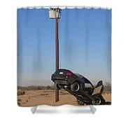 Film Noir Walter Hill Bruce Dern Ryan O'neal The Driver 1978 Car  Telephone Wire Arizona City Az Shower Curtain