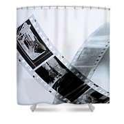 Film Strips Shower Curtain by Tommytechno Sweden