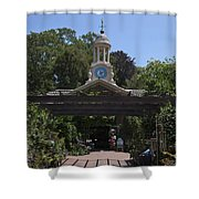 Filoli Clock Tower Garden Shop Shower Curtain
