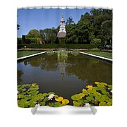 Filoli Garden Pond Shower Curtain