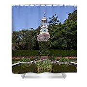 Filoli Garden With Pond Shower Curtain