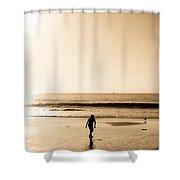Filtered Beach Shower Curtain