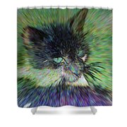 Filtered Cat Shower Curtain