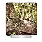 Filtered Forest Shower Curtain