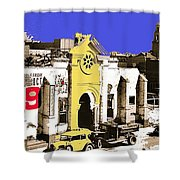 Final Days Of San Agustine Cathedral 1863-1936 Circus Poster Tucson Arizona 1936-2013 Shower Curtain