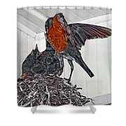 Final Free Meal Shower Curtain