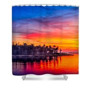 Final Glow Shower Curtain by Marvin Spates