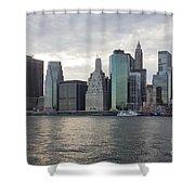 Financial District Skyline Shower Curtain
