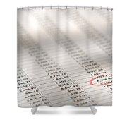 Financial Spreadsheet Shower Curtain