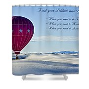 Find Your Solitude Shower Curtain
