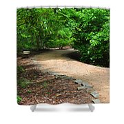 Finding The Way - Yates Mill Shower Curtain
