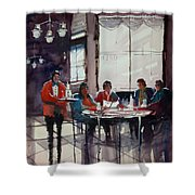 Fine Dining Shower Curtain by Ryan Radke
