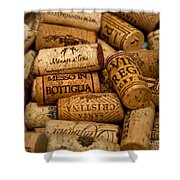 Fine Wine Corks Shower Curtain